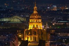 PARIS - Invalides & Grand palais (F.20.100) Tags: europe france paris invalides grandpalais night parisien parisian rooftop