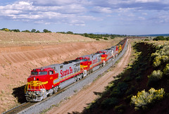 ATSF 631 West at Gonzales, NM (thechief500) Tags: atsf bnsf gallupsubdivision railroads santaferailway atchisontopekaandsantafe nm newmexico