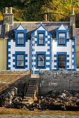 'To the tune of a different drummer ... ' (Canadapt) Tags: house windows door stairs sea lowtide seawall