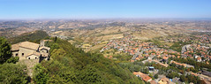 San Marino is a small country of clifftop castles (B℮n) Tags: monumento bartolomeo borghesi universityoftherepublicofsanmarino adriatic sea sanmarino cittàdisanmarino montetitano is land clifftop castlesis enigmatic mysteryis vertiginous views castle slopes mountain republic tourist vacation hills ridge viewpoint clifftops unesco panorama state visiting summer steep trees 50faves topf50