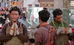 Brothers in arms, Tibet 2017 (reurinkjan) Tags: tibetབོད བོད་ལྗོངས། 2017 ༢༠༡༧་ ©janreurink tibetanplateauབོད་མཐོ་སྒང་bötogang tibetautonomousregion tar ütsang lhasa jokhang lhadentsuglakhang jowokhang ཇོ་ཁང་ fullbodyprostration faceགདོང་པ་dongpa གདོང༌dong གདོང་ཁdongkha portrait portraiture facecolorགདོང་མདོགdongdok portrayal picture photograph likeness