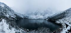Morskie Oko (Näo) Tags: zakopane tatra mountains lake snow lago montañas nieve panoramic panorámica poland