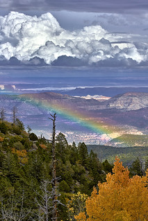 Autumnal Thunderstorm over the Capitol Reef National Park