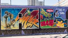 "Detail of ""Welcome to Harlem"" Mural, Graffiti Hall of Fame, East Harlem, New York City (jag9889) Tags: 2017 20171001 bg183 bio detail eastharlem graffiti graffitiartist graffitihalloffame how harlem manhattan mural muralist nosm ny nyc newyork newyorkcity nicer outdoor painting spanishharlem streetart tagging tatscru themuralkings usa unitedstates unitedstatesofamerica wall welcome jag9889 welcometoharlem"