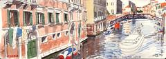 171009venezia01 (Vincent Desplanche) Tags: venise venezia sketching sketch croquis urbansketchers italia italy aquarelle watercolor matiteinviaggio seawhiteofbrighton seawhitesketchbook