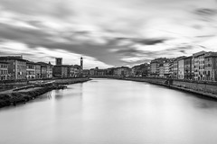 Grey shade (DanAie) Tags: grey black white blackandwhite bw artistic art architecture travelphotography travel bnw blackandwhitefineart shadow shade silver longexposure composition composizione bianco nature italia italy it pentax photography pisa toscana clouds river contrast