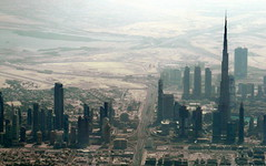 dubai silhouettes (kexi) Tags: dubai uae emirates asia panorama silhouettes view aerial skyline skyscrapers burjkhalifa airborne flight windowseat september 2016 samsung wb690 instantfave mist wallpaper