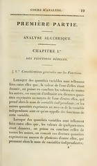Cours d'Analyse, by Augustin-Louis Cauchy (pg. 19) (heyesa.me) Tags: augustin louis cauchy math maths mathematics mathematician poet french cours danalyse analytic calculus complex analysis