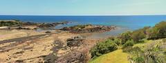 3 Sisters, Tasmania (taszee63) Tags: tasmania panorama beach 3sisters bassstrait turquoise ocean sea rocks