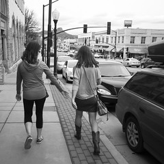 Mother & Daughter (Lainey1) Tags: mother daughter lainey1 elainedudzinski ricoh ricohgr prescott arizona visit tasha mona ramona bw monochrome street