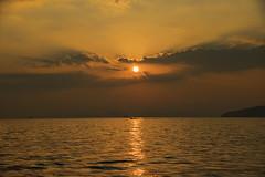 Krabi longboat at sunset (ORIONSM) Tags: aonang krabi thailand asia longboat sea ocean water sunset silhouette clouds skyscape pentaxk3 sigma18250