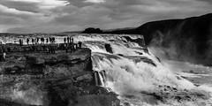 Gullfoss (Drouyn) Tags: iceland waterfall blackandwhite nature travel north nikon landscape river gullfoss