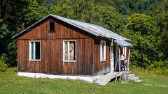 Postsowiecka baza alpinistyczna Zeskho (1800m).  Tu mieszkalismy - Monika. (Tomasz Bobrowski) Tags: wspinanie mountains gruzja kaukaz góry zeskhobasecamp caucasus georgia climbing