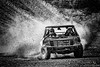 Number 76 Kicks up the Dirt (Justine MacDonald) Tags: silverefexpro bw cars photoshop vehicles newminas novascotia canada annapolisvalley truckrally thunderinthevalley dirt