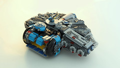 The Phenomenal [ YT-3000 ] (Joe Gan) Tags: rebrick lego star wars millennium falcon phenomenal yt3000 moc toy blue minifigure scale joegan