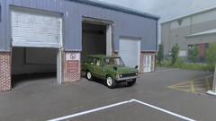 Range Rover Mk1 Classic 4x4. (ManOfYorkshire) Tags: ycx348k rangerover landrover classic mk1 4x4 fourwheeldrive car automobile british green oxforddiecast diecast scale model 176 oogauge diorama industrialestate