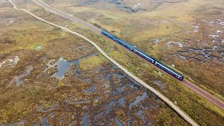 Scotrail train at Corrour Summit