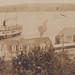 SHIP NW Onekama Manistee MI RPPC c.1915 SS ILLINOIS MISSOURI OR PURITAN INBOUND at PORTAGE POINT INN & RESORT MICHIGAN TRANSIT COMPANY DOCKS closer to Village3