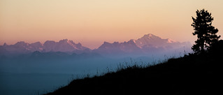 Last Rays on the Mont-Blanc - Chasseral - Switzerland