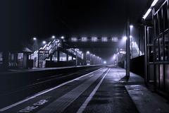 Station Lights-4680.jpg (Jon Mills Photography) Tags: lights night rail bridge gap street train illuminate railway photo365 mist fog station transport