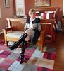 More CK with boots (krislagreen) Tags: tg transgender transvestite cd crossdresser skirt pencilskirt jacket hose boots patent blackpatent femminized femme feminization