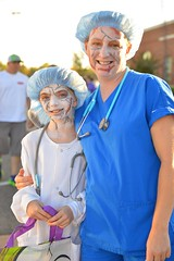 Happy zombie doctors (radargeek) Tags: 2016 mustang ok oklahoma spooktacular costumes zombie nurse patient doctor facepaint