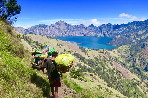 Day 2 of 3 climbing the active volcano in Mount Rinjani was the hardest day. We walked from 2:30am till 8pm. This pictures are from the second part of the day hiking to our next base camp. Lombok. Indonesia  August 2017 #itravelanddance