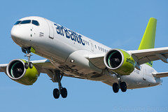 Bombardier CSeries CS300 airBaltic YL-CSG cn 55009 (Guillaume Besnard Aviation Photography) Tags: lebl bcn barcelona barcelonaelprat barcelonaairport barcelonaaeroport barcelonaaeropuerto canoneos1dsmarkiii canonef500f4lisusm spotting plane planespotting airplane aircraft bombardiercseriescs300 airbaltic ylcsg cn55009 bombardier cseries bombardiercseries cs300 bombardiercs300