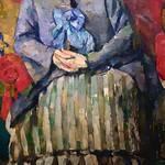CEZANNE,1877 - Madame Cézanne à la Jupe rayée (Boston) - Detail 42 thumbnail