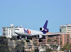 Fedex DC 10F (Gerry Rudman) Tags: federal express mcdonnel douglas dc 1010f n 390fe san diego united airlines 1825u