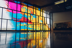 Highway 407 Station (dtstuff9) Tags: toronto ontario canada ttc transit commission highway 407 subway station window glass art color colour david pearl