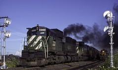 Big Alco...Big Smoke (ac1756) Tags: burlingtonnorthern bn alco c636 4360 vancouver washington