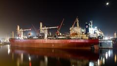 Shipyard night (Per-Karlsson) Tags: ship shipyard turkey tuzla night maritime maritimeindustry bulkcarrier bulker vessel reflection stillness