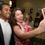 Selfie-time - Poole alumna Suzanne Phillips and a fellow alumnus