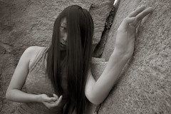 Why be lonely? (chinese johnny) Tags: portrait photoshoot portraitsession ambient beautiful beauty beautifulgirl chinese chinadoll canon7d chinagirl chinesegirl longhair hair bw blackandwhite emotive emotion intimate monochrome moody location lyrics tompetty rockinaroundwithyou