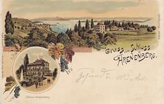Postkarte / Schloss Arenenberg (micky the pixel) Tags: ephemera postkarte postcard lithografie vintage salenstein schloss arenenberg kantonthurgau untersee bodensee schweiz suisse switzerland