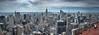 Manhattan from  Rockefeller Center top (Zygios) Tags: city manhatttan nyc newyork urban america travel nikon nikond610 tamron2470 sky clouds skyline architecture topoftherock rockefellercenter skyscraper hdr hdrpanorama panoroma buildings capital landmark towers tower building water