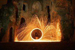 (spenceiley) Tags: lightpaintingblog nikon sooc longexposure adventures history castle firespinning spinningfire steelwool lpwalliance lightart lightjunkies lightpainting