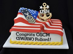 Promotion cake (jennywenny) Tags: usn navy flag promotion military rating