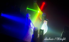 RGB lasers (xhachair) Tags: laser bbright science projection display rgb red blue green dichroic filter combination mix collimated white light source lightsource lens optics optic optical fiber experiment experimental scientific