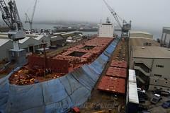 GB - unknown ship at Falmouth Docks (BonsaiTruck) Tags: unknown schiff ship falmouth docks werft