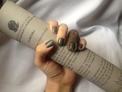 Desafio Segura a Coisa - Granite Stone (Artdeco) + Brilho da Lua (Anita) (Daniela nailwear) Tags: desafioseguraacoisa granitestone artdeco cinza cremoso brilhodalua anita glitter esmaltes esmalteimportado mãofeita troquinha