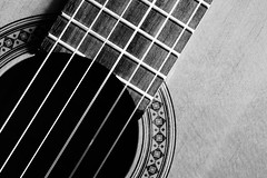 guitar (brunolabs) Tags: guitar yamaha black white wood strings music classical bw art