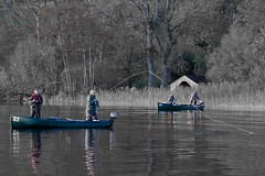 Fishng frenzy (PeterYoung1.) Tags: atmospheric boats canon canon100400 fishing green landscape moody nature scenic peteryoung1 scotland lakementeith uk water