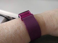 20Oct17 New band for my Gear Fit2 arrived. I love the colour! Like my pretty Fitbit one, this one is metal and has a magnetic clasp, making it really easy to adjust. #latergram #2017pad #photoaday #picaday