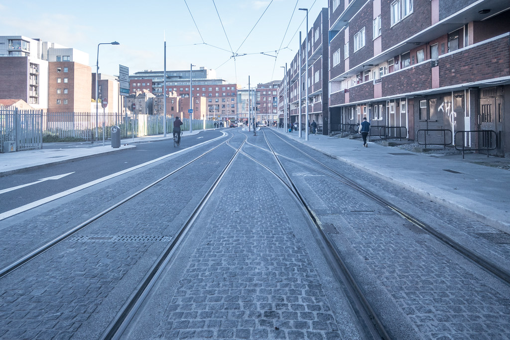 DOMINICK STREET BOTH SIDES OF THE TRACKS [THE NEW LUAS TRAM LINE]-133619