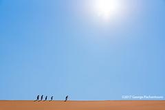 Walking in the heat of the Namib desert (George Pachantouris) Tags: namibia africa southern travel holiday desert namib sossusvlei deadvlei hot sand dune dunes