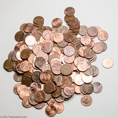 Common Cents (Jim Frazier) Tags: 2017 elgin change clipart coins copper edgewater home il illinois interior january jimf metal pennies presentation setup speedlight stilllife stobes studio tabletop currency money q3