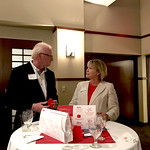 Jon Rufty with Annette L. Ranft, Poole College dean