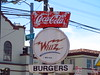 Whiz Burgers sign landscape (Pest15) Tags: whizburgers sanfrancisco streetphotography sign signage outdoorsign cocacola weathered